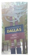 Dallas Arts District Bath Towel
