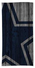 Dallas Cowboys Wood Fence Hand Towel