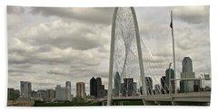 Dallas Suspension Bridge Bath Towel