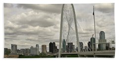Dallas Suspension Bridge Hand Towel