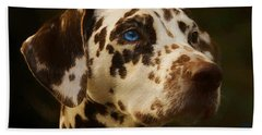 Dalmatian - Painting Bath Towel