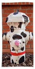 Dalmation Hydrant Hand Towel by James Eddy