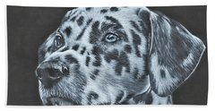 Dalmation Portrait Hand Towel