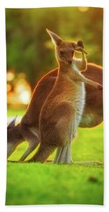 Hand Towel featuring the photograph Damn Flies, Yanchep National Park by Dave Catley
