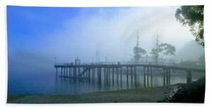 Dana Point Harbor When The Fog Rolls In Hand Towel