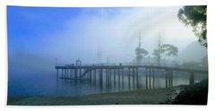Dana Point Harbor When The Fog Rolls In Bath Towel
