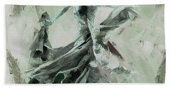Bath Towel featuring the painting Dance Flamenco Art  by Gull G