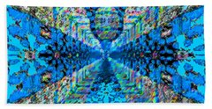 Bath Towel featuring the digital art Dance Hall Mirrors No. 2 by Joy McKenzie