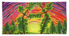 Dance Of Sunset Hand Towel