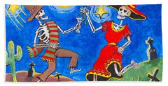 Dance Of The Dead Bath Towel