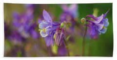 Dance Of The Lavender Columbines Hand Towel