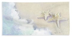 Bath Towel featuring the painting Dance Of The Sea - Knobby Starfish Impressionstic by Audrey Jeanne Roberts