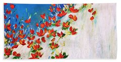 Bath Towel featuring the painting  Dance Of The Spring by Teresa Wegrzyn