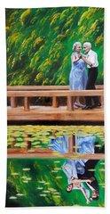 Dance Reflection Hand Towel by Jason Marsh