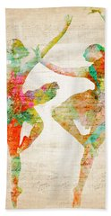 Bath Towel featuring the digital art Dance With Me by Nikki Smith