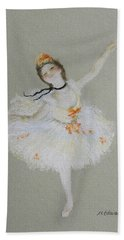 Dancer Hand Towel by Marna Edwards Flavell