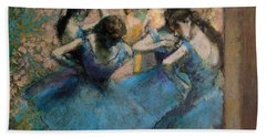 Dancers In Blue Hand Towel