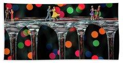 Dancers On Wine Glasses Bath Towel