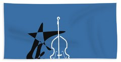 Dancing Bass In Blue Hand Towel by David Bridburg