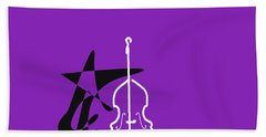 Dancing Bass In Purple Hand Towel by David Bridburg