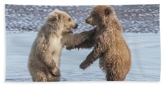Dancing Bears Hand Towel by Chris Scroggins
