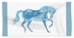 Dancing Blue Unicorn Bath Towel
