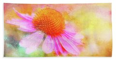 Dancing Coneflower Abstract Bath Towel