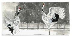 Dancing Crane II Hand Towel