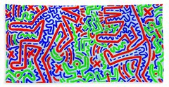 Dancing Dogs After Keith Haring 1958-90 Hand Towel