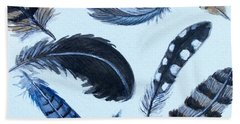 Hand Towel featuring the painting Dancing Feathers by Elizabeth Robinette Tyndall