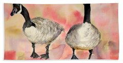 Dancing Geese Bath Towel by Vicki  Housel