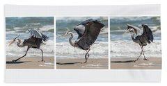 Dancing Heron Triptych Hand Towel