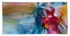 Bath Towel featuring the painting Dancing Into Eternity by Deborah Nell