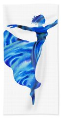 Dancing Water Arabesque Ballerina Hand Towel