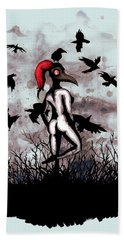 Dancing With Crows Bath Towel