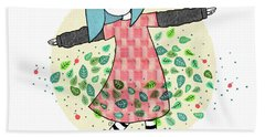 Dancing With Leaves Hand Towel by Carolina Parada