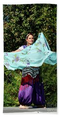 Dancing With Scarves Hand Towel by Kathy Baccari