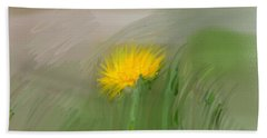 Hand Towel featuring the photograph Dandelion May 2015 Painterly by Leif Sohlman