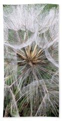 Dandelion Seed Head  Hand Towel by Kathy Spall