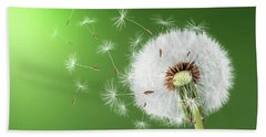 Bath Towel featuring the photograph Dandelion Seeds by Bess Hamiti
