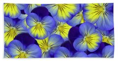 Dandy Pansies Bath Towel