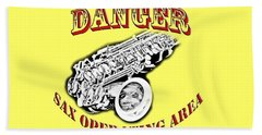 Danger Sax Operating Area Hand Towel