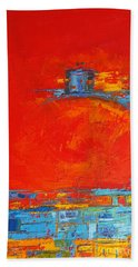 Dare -  Modern Abstract Oil Painting Palette Knife Bath Towel