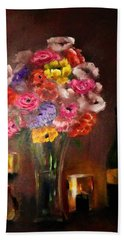 Dark And Dramatic Bouquet By Lisa Kaiser Hand Towel