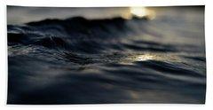 Bath Towel featuring the photograph Dark Atlantic Traces by Laura Fasulo