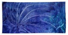 Dark Blue Abstract Hand Towel