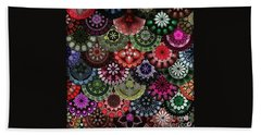 Dark Flower Bath Towel