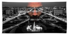 Dark Forces Controlling The City Bath Towel by ISAW Gallery
