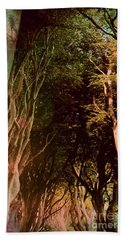 Bath Towel featuring the photograph Dark Hedges by Mary-Lee Sanders