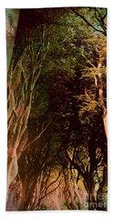 Dark Hedges Bath Towel by Mary-Lee Sanders